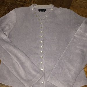 Fleece snap-front cardigan